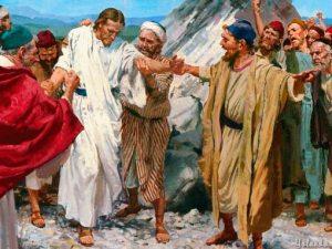 Jesús a punto de ser despeñado