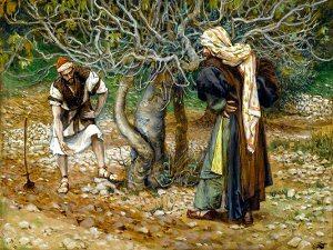 Pintura de la higuera en la viña