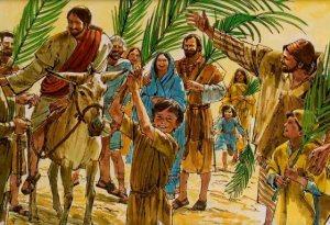 Jesús entrando en Jerusalén