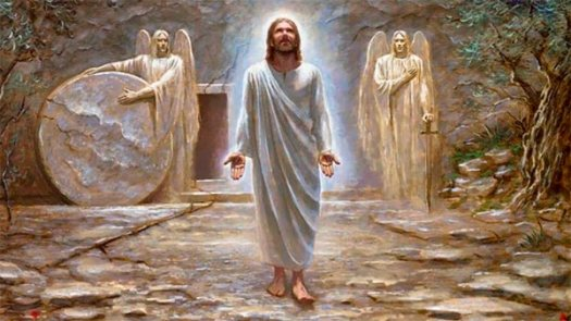 Jesús sale del sepulcro