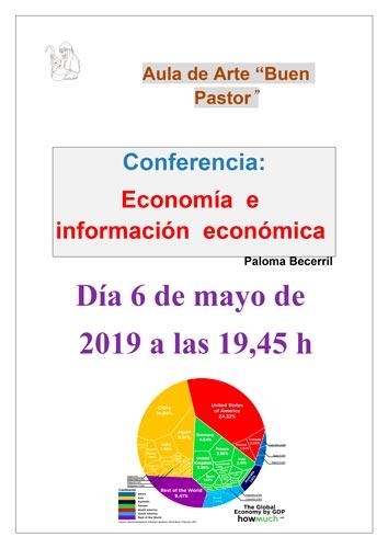 Cartel de la conferencia Economía e información económica