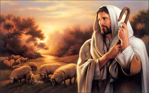 El Buen Pastor y su rebaño
