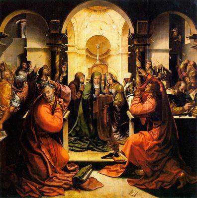 El Espíritu Santo desciende sobre los discípulos