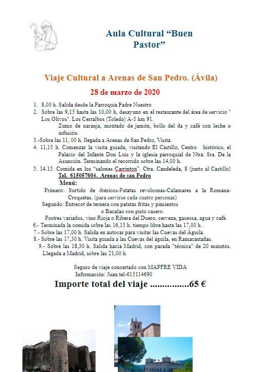 Cartel del viaje a Arenas de San Pedro